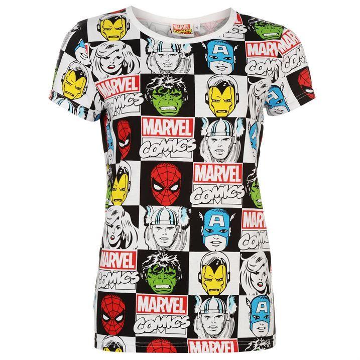 Womens Marvel Comics T Shirt Marvel fashion, Comic clothes,