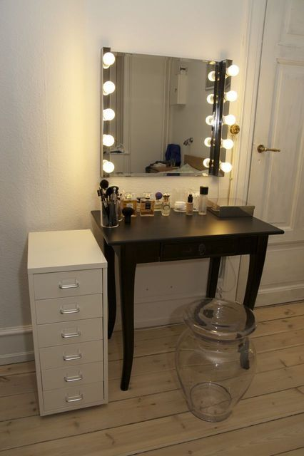 Made From Ikea Lights And Mirror I Must Make This For My