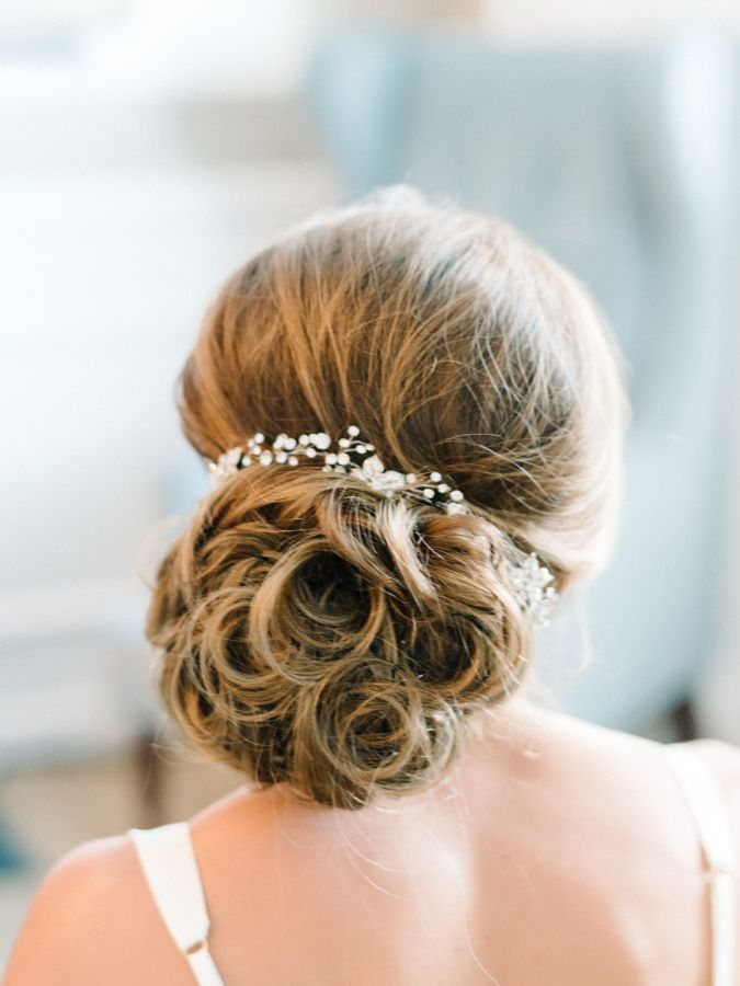 Hair: Stephanie from De La Mer - http://www.stylemepretty.com/portfolio/stephanie-from-de-la-mer Photography: Michelle Lange Photography - loveandbemarried.com   Read More on SMP: http://www.stylemepretty.com/2016/09/25/handwritten-notes-served-as-escort-cards-for-their-300-guests/