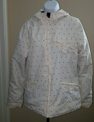 Powder Room Core 5000mm Women 39 S White Blk Polka Dot Sz S P