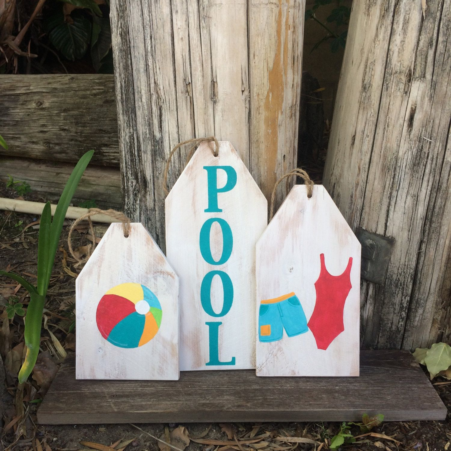 Pool Sign Swimming Decor Tags Summer Outdoor Wood Tag Door Hanger Shelf Sitter Party By Curvesandedges On Etsy