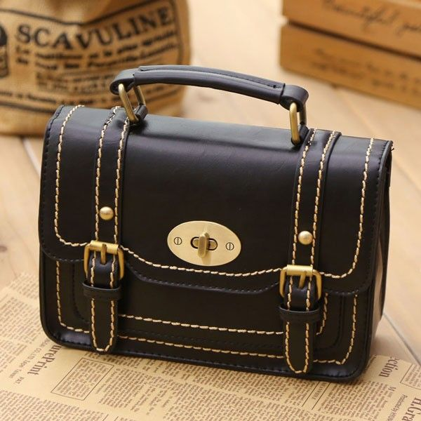 Retro Buckle Leather Messenger Bag Shoulder Bag  only $34.99 from ByGoods.com