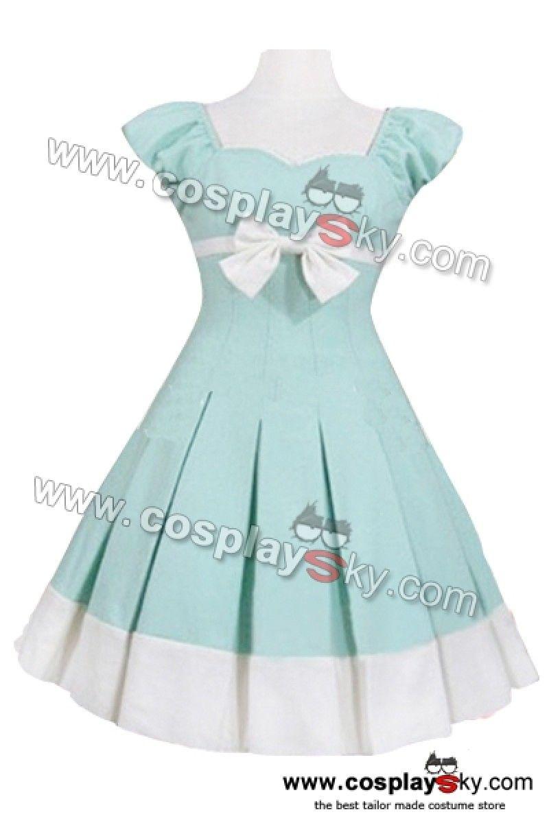 Sweet Cap Sleeve Cotton Sweet Lolita Dress-1 for bridesmaids ...
