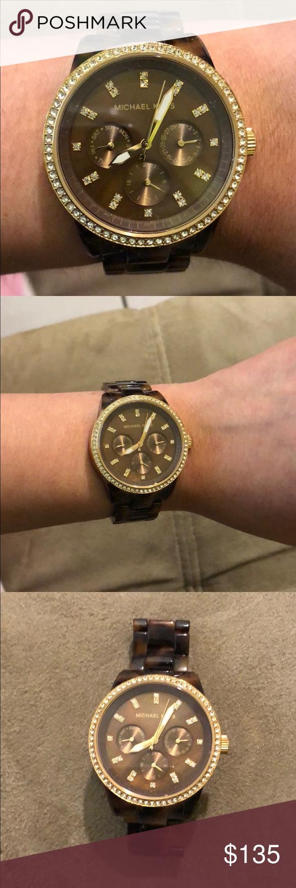 ec993de3e6e AUTHENTIC Michael Kors Tortoise Watch Like New Authentic Michael Kors  Tortoise watch !! It s been