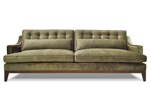 A Classic Sofa With A Hip Mid Century Twist Custom Sofa Classic Sofa Furniture