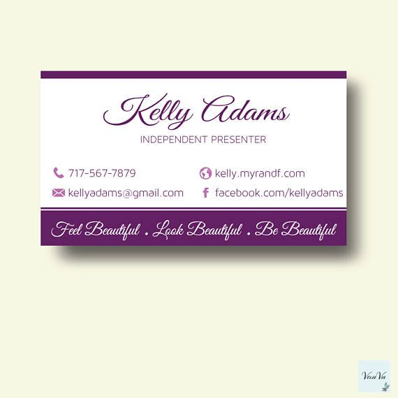 Younique Business Cards Elegant Personalized