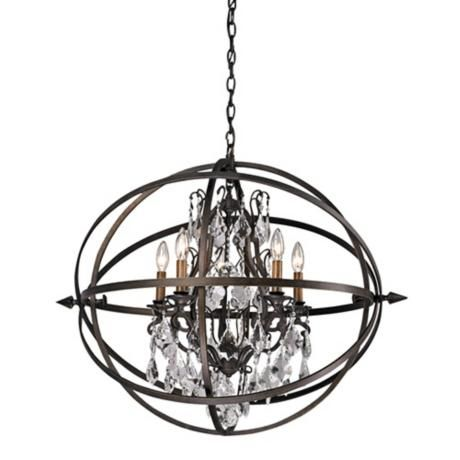 Byron 27 1 4 Vintage Bronze And Crystal Chandelier X5870