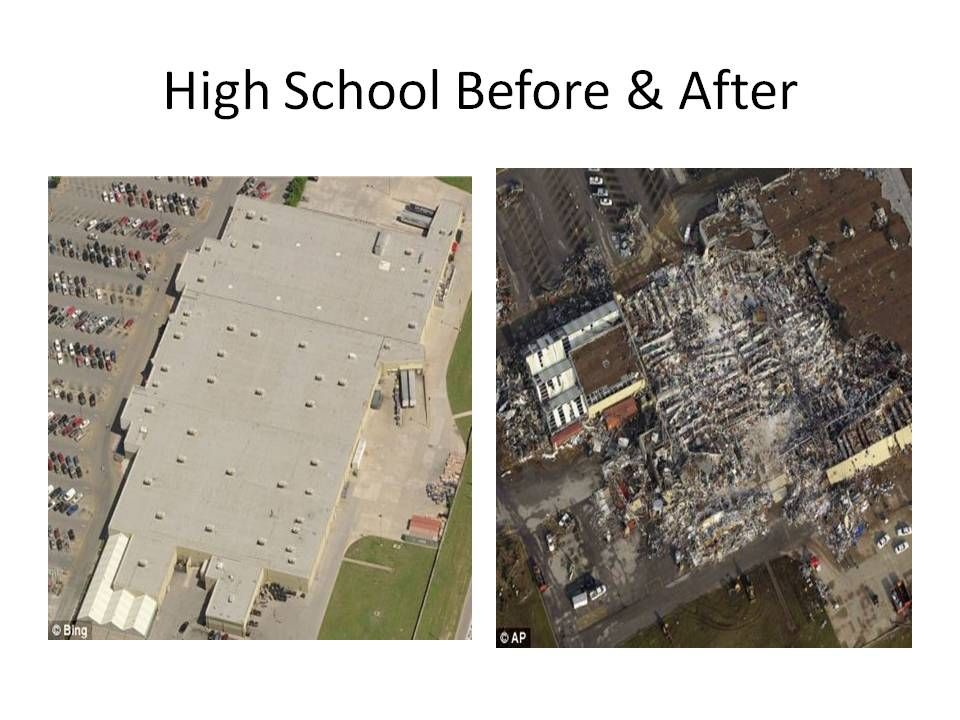 High School Before And After F5 Tornado Hit Joplin Mo Bobandkimber High School Joplin School