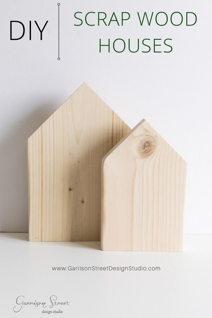 Photo of DIY Scrap Wood Houses | Garrison Street Design Studio