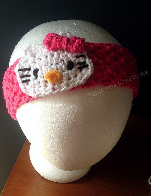 Crochet Patterns Galore - Hello Kitty Headband   Free Headband ...