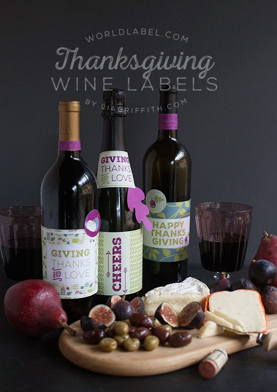 Thanksgiving Day Wine Bottle Labels  Free Printable Labels by - free wine label design