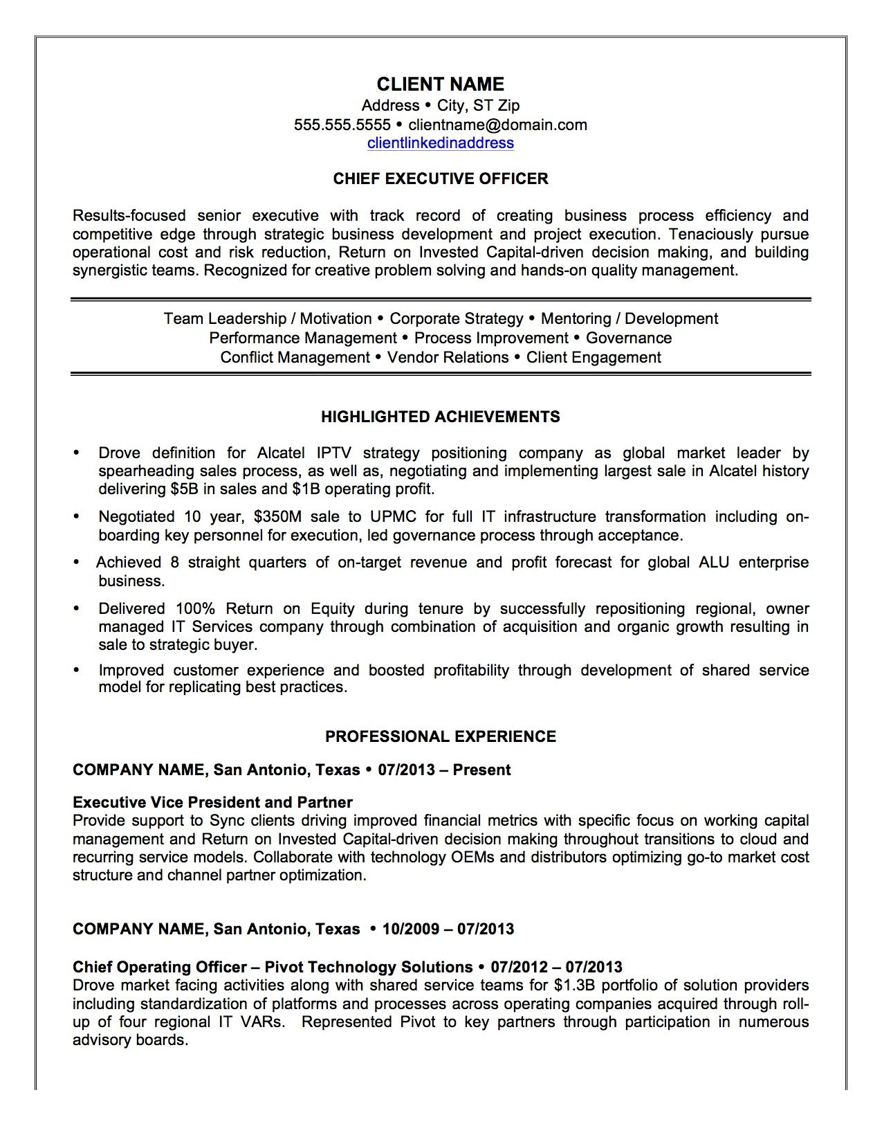 chief executive officer resume sample httpresumesdesigncomchief executive officer resume sample