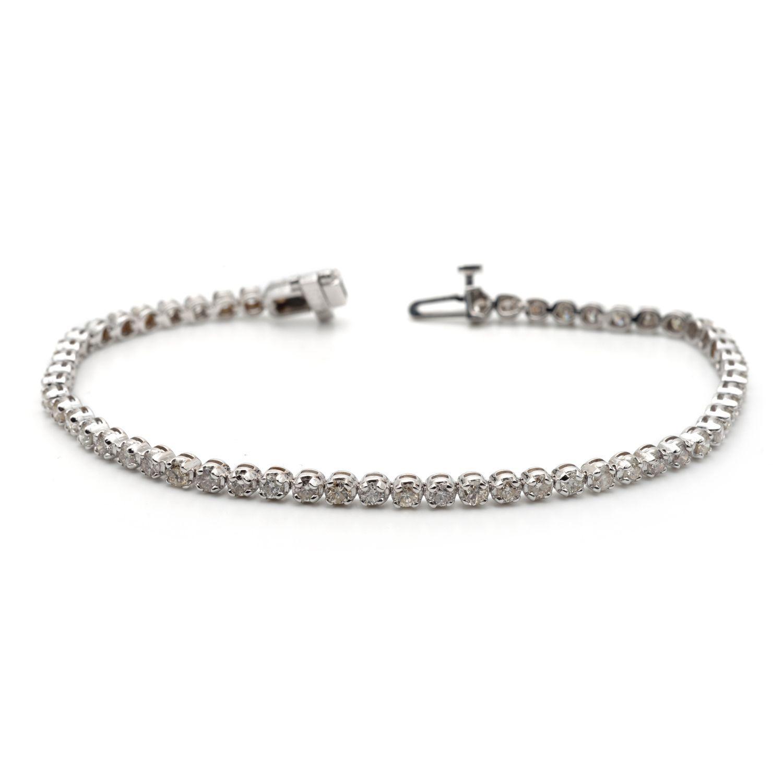Auriya 14k White or Gold 4ct TDW Diamond Tennis Bracelet
