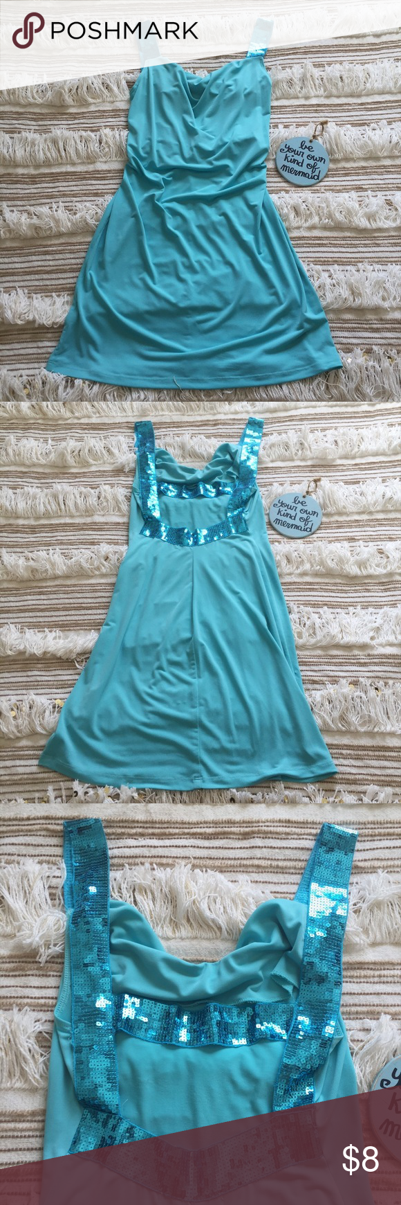 Tiffany Blue Cocktail Dress By Charlotte Russe | Blue cocktail dress ...