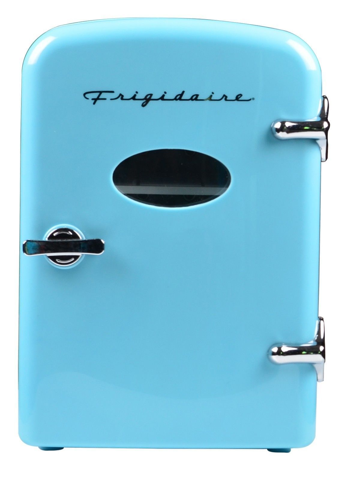 Frigidaire Mini Retro Beverage Fridge Blue Holds 6 Pack Mini Fridge Beverage Refrigerator Beverage Fridge