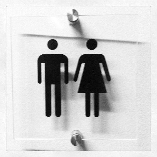 Boy + Girl | Unisex bathroom sign | Garrand, Portland, ME