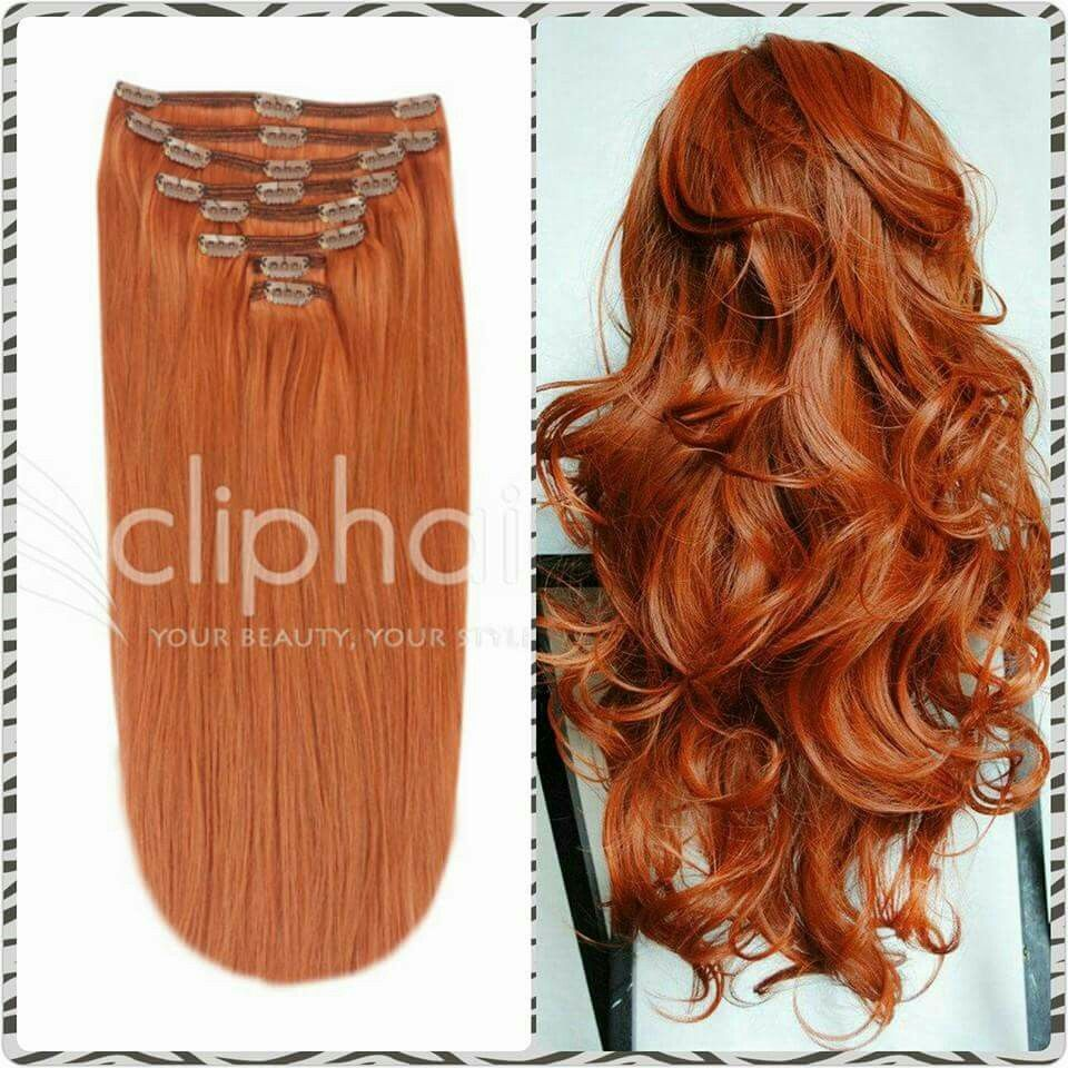Ginger Red 350 Extensions 100 Remy Human Hair Extensions