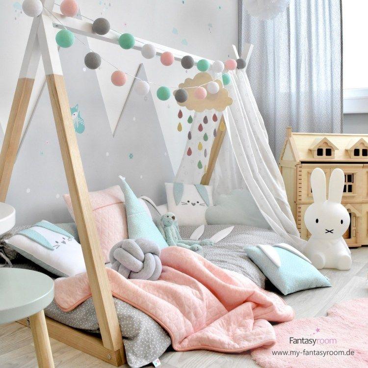 Photo of Kleines Kinderzimmer? Tipi Bett ist DIE Lösung!