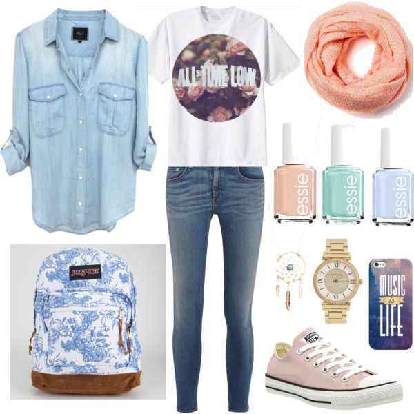 Untitled #13 by taisfidabelf on Polyvore featuring polyvore fashion style rag & bone/JEAN Converse JanSport Michael Kors Aéropostale Casetify Essie