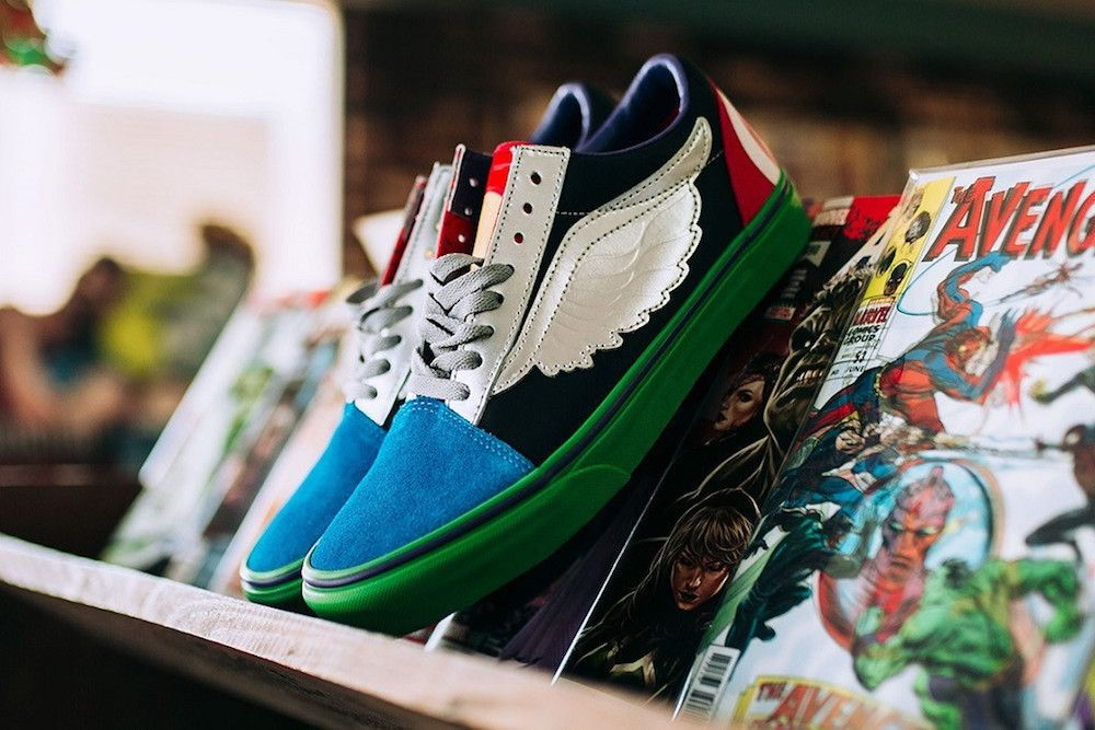 e424e00e76954f Marvel is now infiltrating the sneaker market. Beloved skate-shoe company  Vans is toasting the success of Marvel and their record-breaking film  Avengers  ...