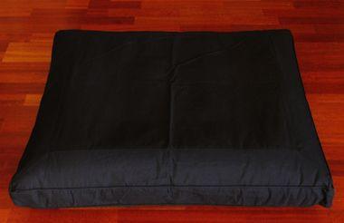 Meditation Cushion Zabuton Floor Cushion - Kapok Fill - Black
