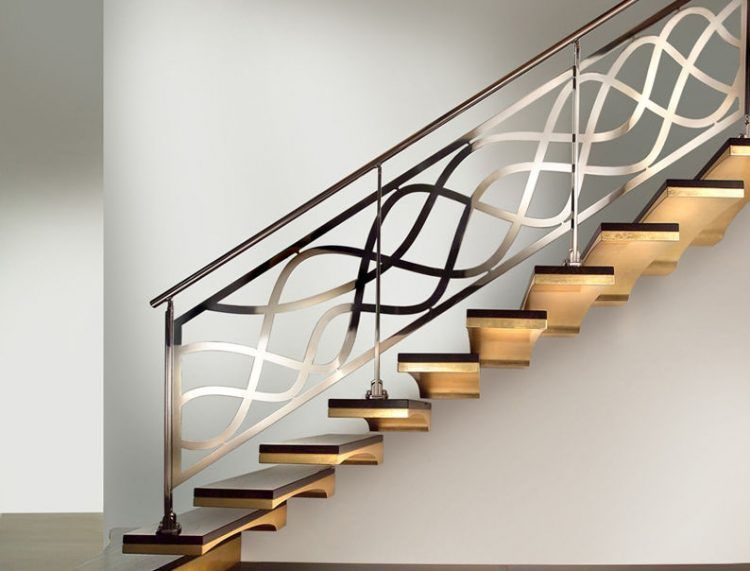 Best Brushed Metal Handrail With Artistic Shaped Metal Railing 400 x 300