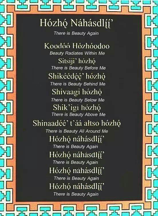 Prayer | Navajo ~ Diné | Navajo language, Navajo culture ...