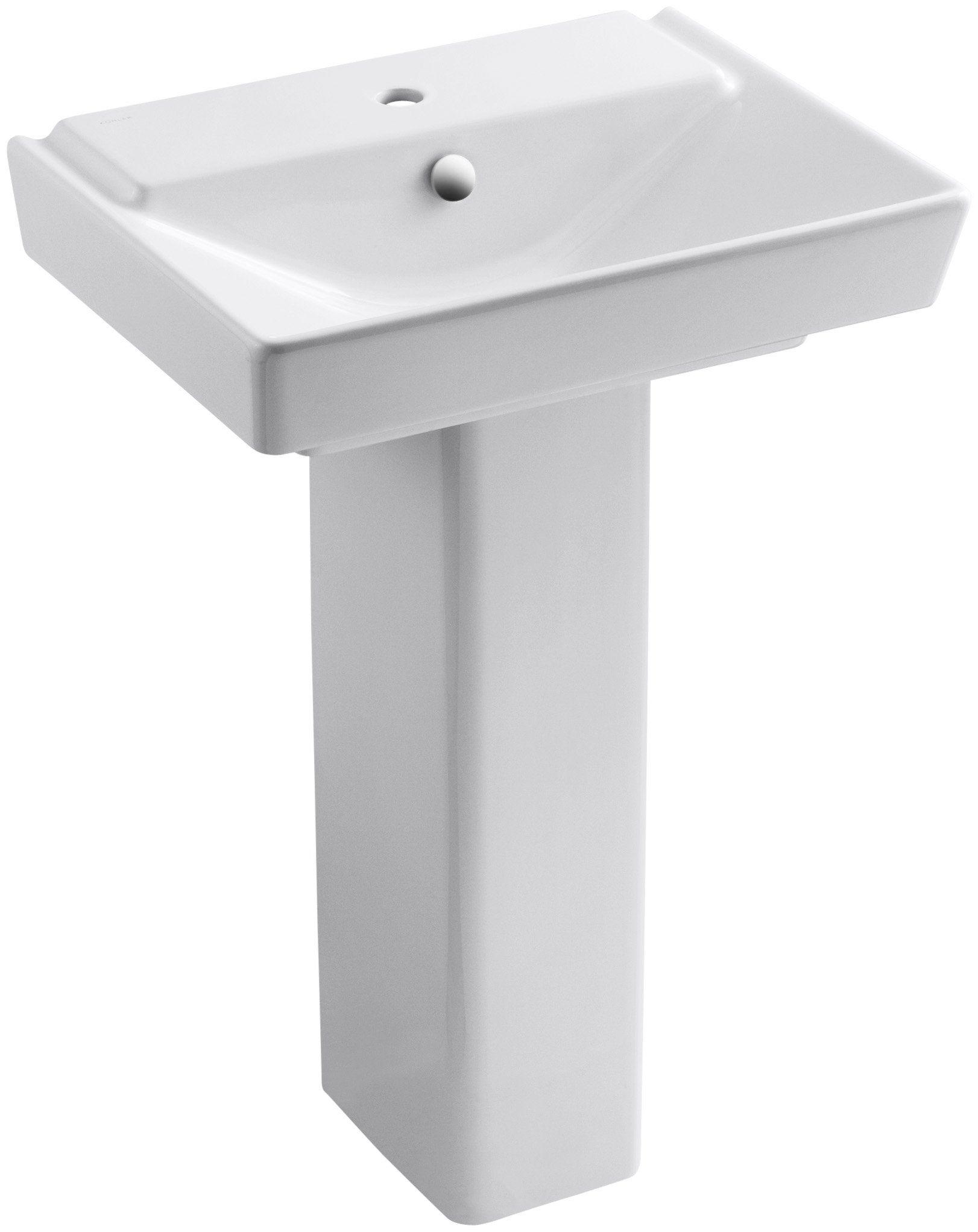 Kohler K 5152 1 0 Reve 23 Bathroom Sink Basin And Pedestal White
