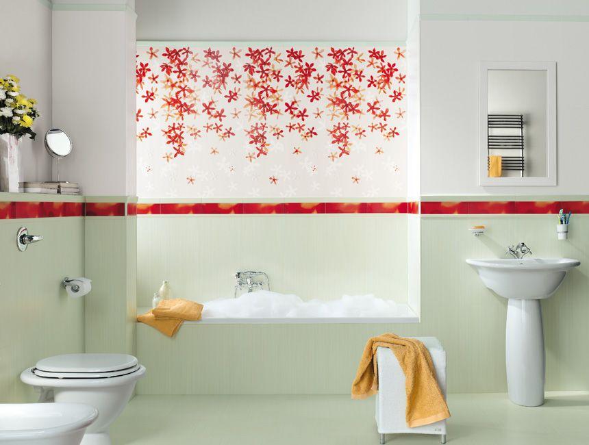 Bathroom Ceramic Designs: Bathroom, Light Green Ceramic Floor Patted Wall Glass