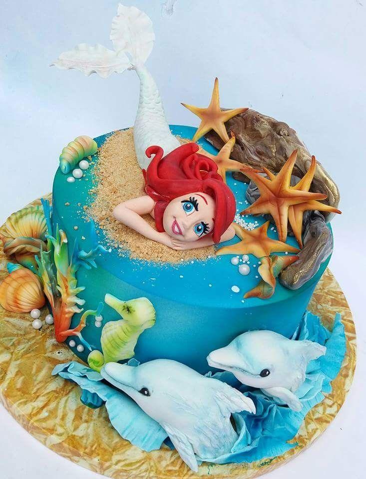 Schöne Torten, Prinzessinnen, Meereskuchen, Meerjungfrau Kuchen, Urlaub  Kuchen, Schöne Kuchen, Tolle Kuchen, Disney Kuchen, Einzigartige Kuchen