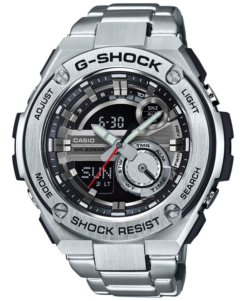 6dc675ef1 G-Shock Men s Analog-Digital Silver-Tone Resin Bracelet Watch 59x52mm  GST210D-1A - G-Shock - Jewelry   Watches - Macy s