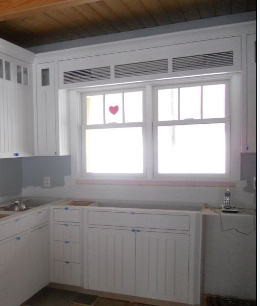 With This Kitchen Remodel A Soffit Was Built Above The