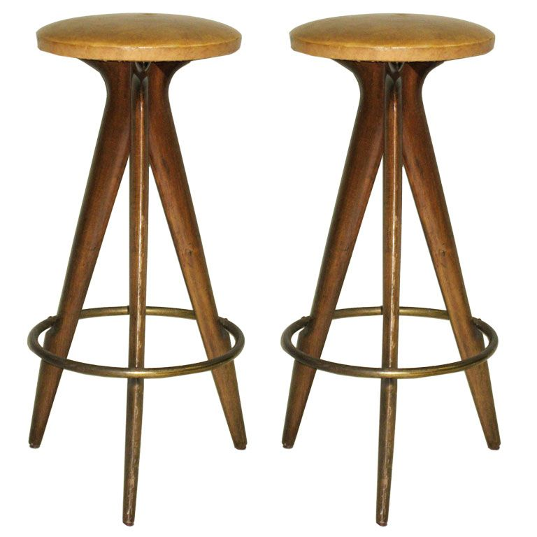 Important Pair Of Bar Stools By Osvaldo Borsani From A Unique Collection Of Antique And Modern Stools At Https Www 1stdibs With Images Bar Stools Stool Modern Stools