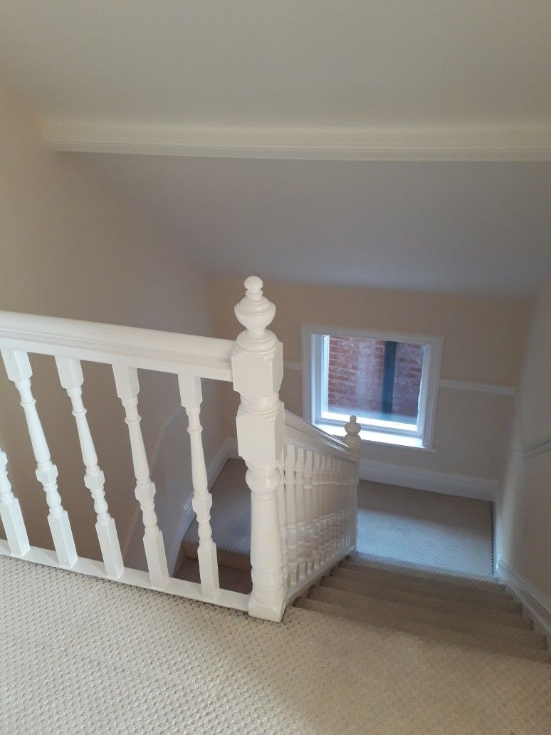 2 Bed Flat Bournemouth Bannisters Glossed In 2 Bed Rental Flat Bournemouth Decorator