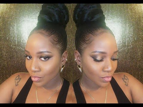 How to easy Protective style Large Top knot bun tu