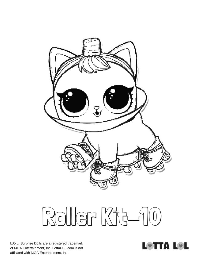 Roller Kit 10 Coloring Page Lotta Lol Coloring Pages Lol Dolls Kids Printable Coloring Pages