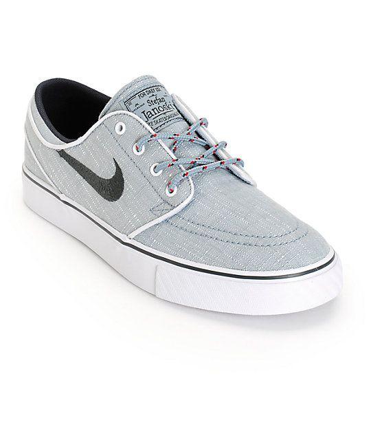 promo code 720f7 7820a Nike SB Stefan Janoski Dove Grey   Anthracite Kids Skate Shoes   Zumiez