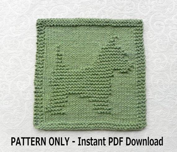 Yorkie Dishcloth Knitting Pattern Westie Pattern Pdf Instant