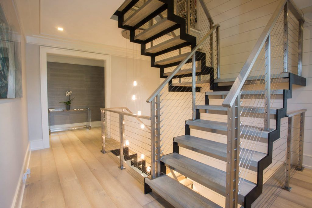 How Much Do Custom Floating Stairs Cost Keuka Studios Railing Design Modern Stairs Stairs Design