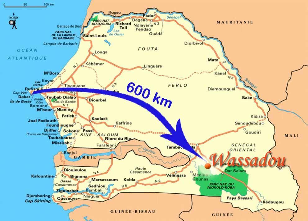 Carte Senegal Parc Koba Recherche Google Senegal