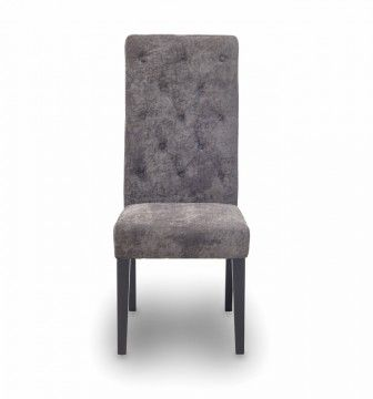 Modern grey upholstered dining chair