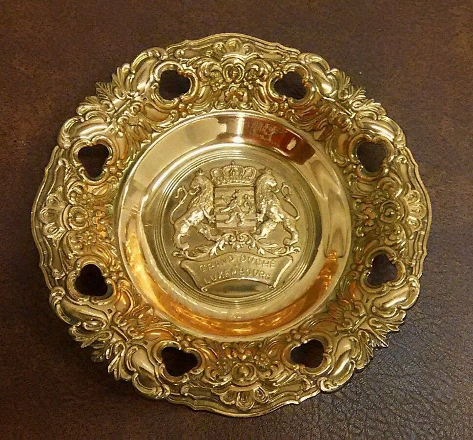 VTG Grand Duche De Luxembourg Metal Wall Plaque Bowl | Decorative ...