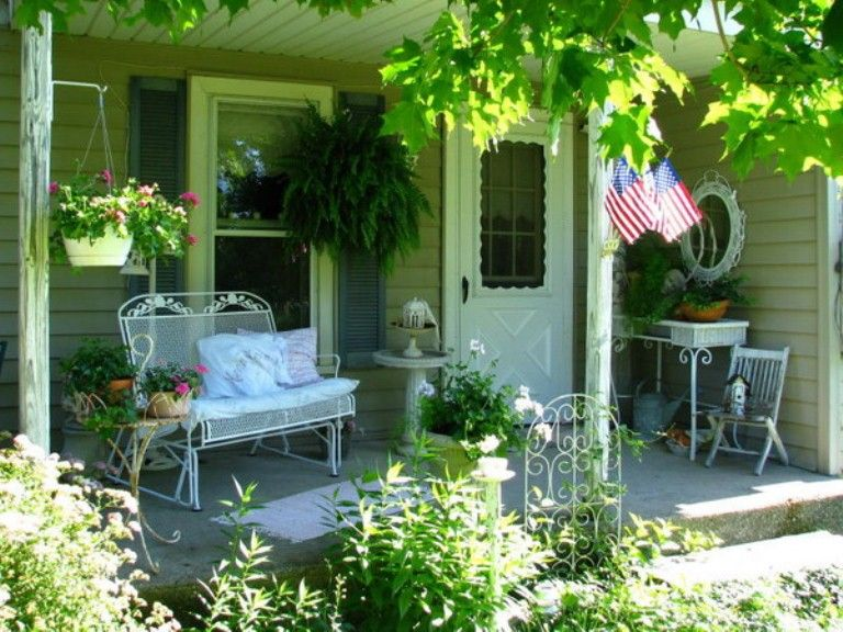 Shabby Chic Terrace Design With Victorian Charm Digsdigs