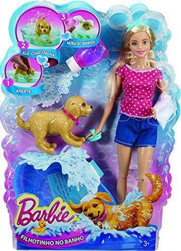 Barbie Dgy83 Son Chien Heure Du Bain Barbie Poupées