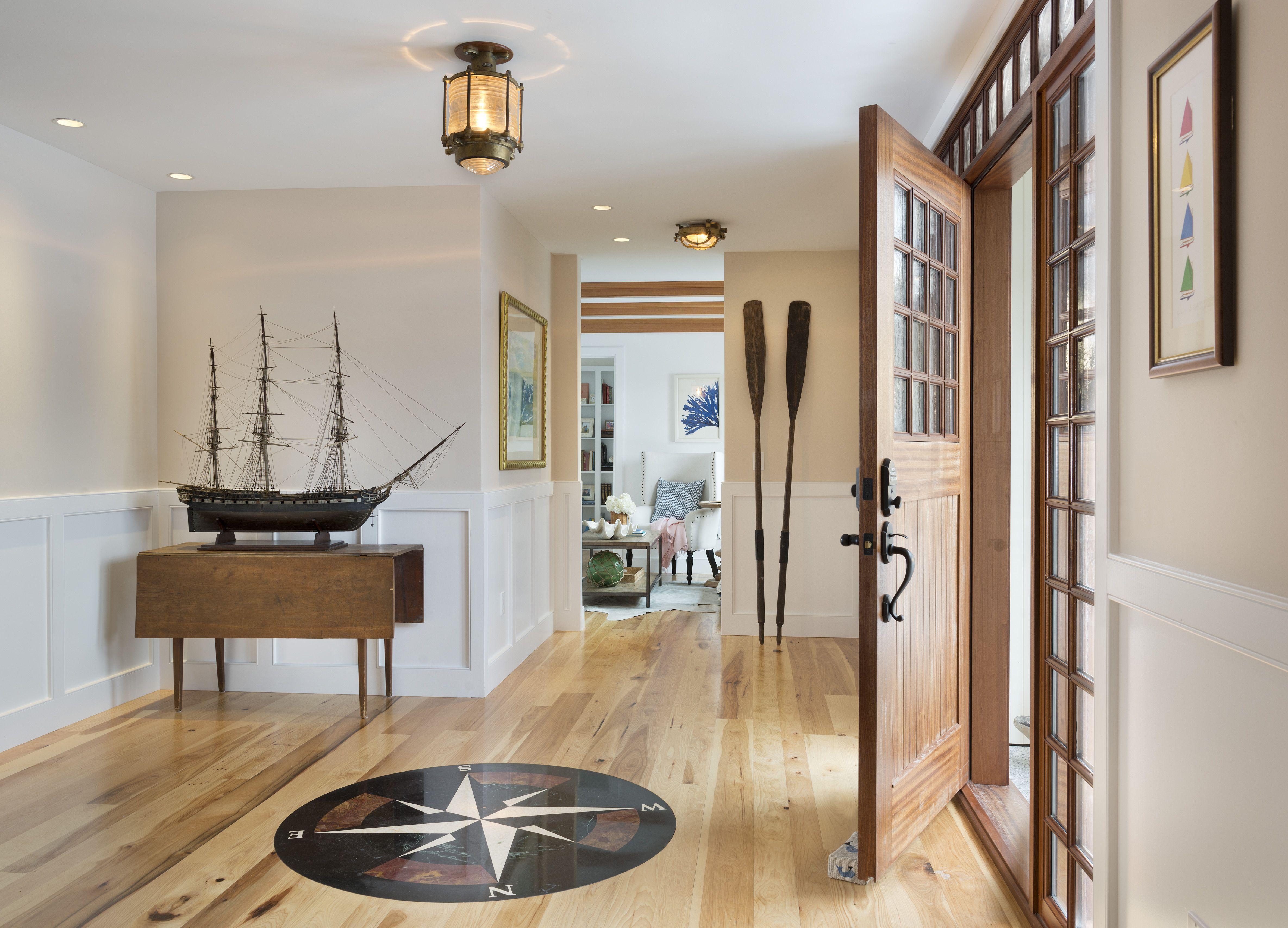 Model Ship + Compass Rose #Transomlighting #Foyer