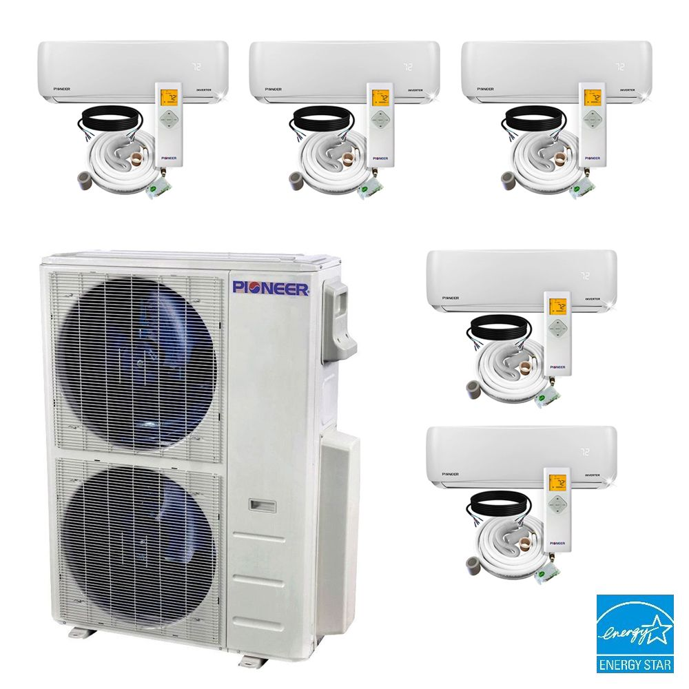 Multi Zone 21 5 Seer Ductless In 2020 Heat Pump System Ductless Mini Split Ductless