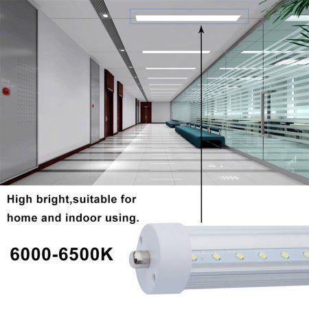 4 10pcs T8 2 4m Fluorescent Replacement Led Tube Light 6000 6500k