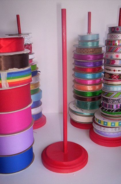 Ribbon Spool Organizers of awesomeness... - HOME SWEET HOME