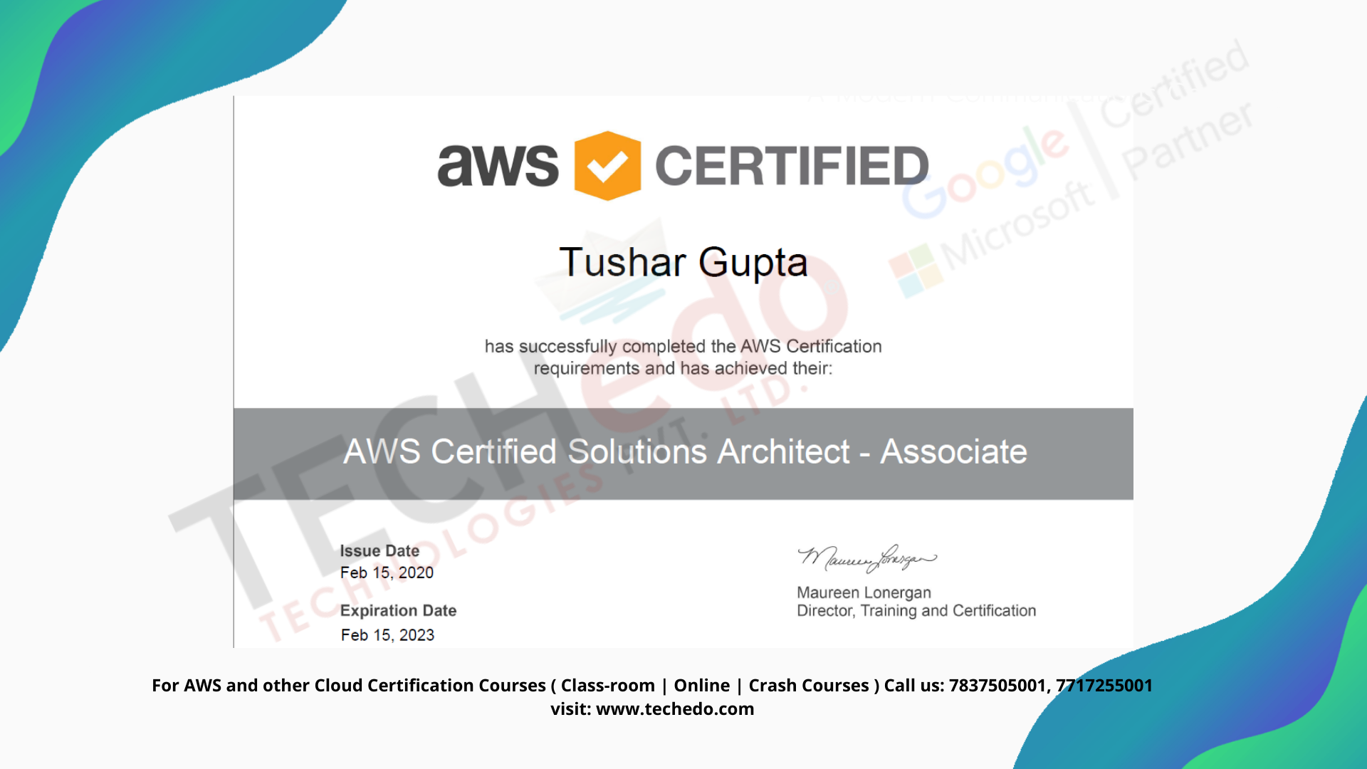 Aws Certification Course Chandigarh Techedo Technologies In 2020 Crash Course Train Chandigarh