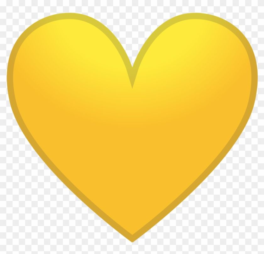 Pin By Michelle Thomas On Valentine S Day Yellow Heart Heart Icons Love Heart Emoji